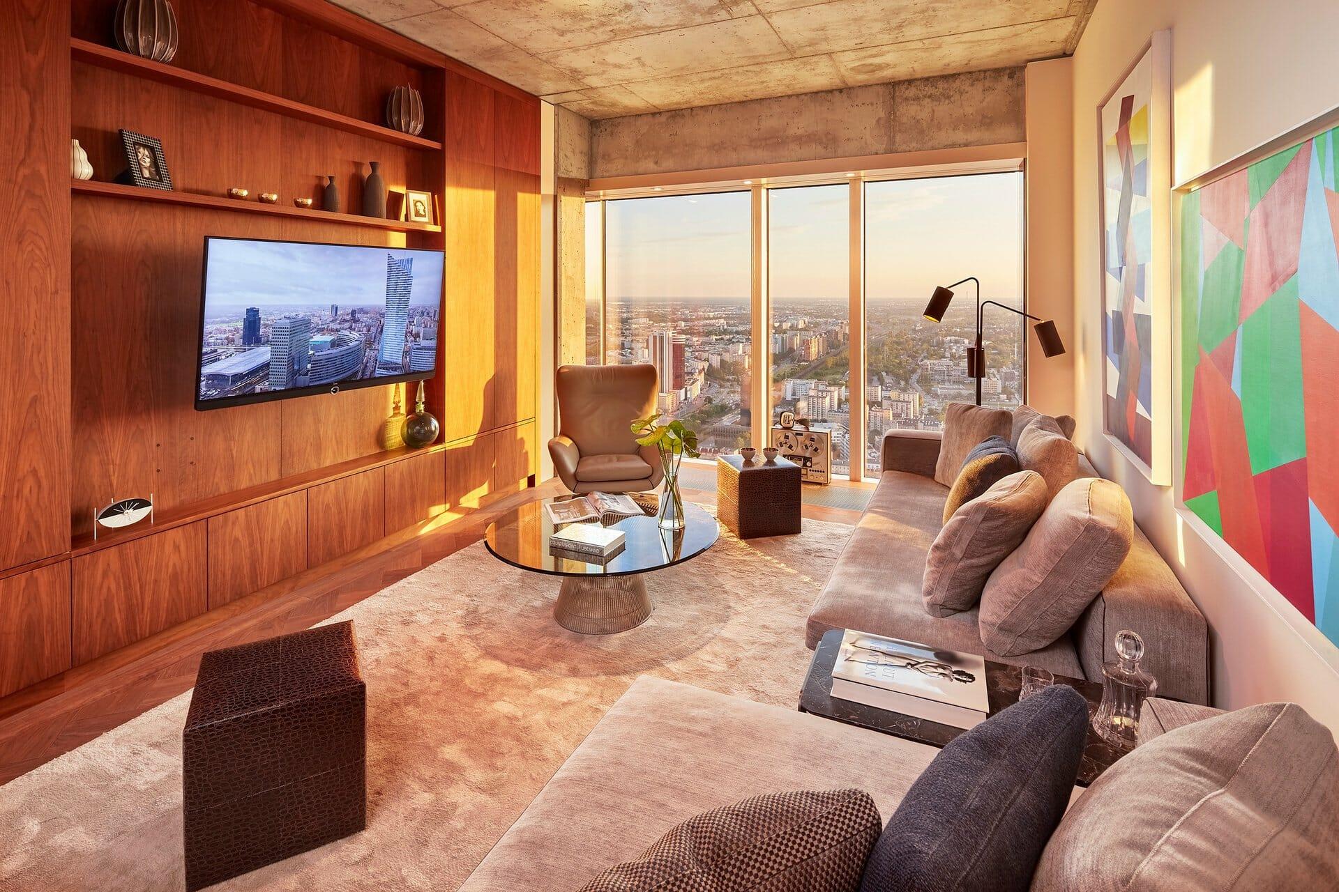 Telewizor Loewe w pokoju