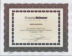 certyfikat ISF cinematic
