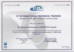 certyfikat Sim2